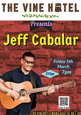 Jeff Cabalar live @ The Vine Friday 5th March