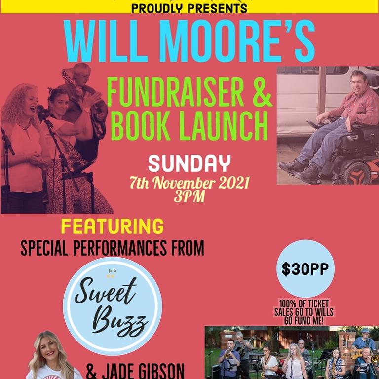 Will Moore fundraiser & book launch Sun 7th Nov @ Vine Hotel