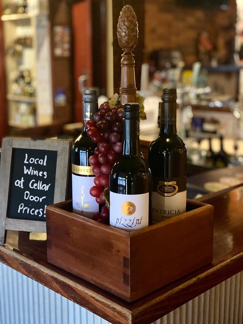 Cellar door priced wines at The Vine