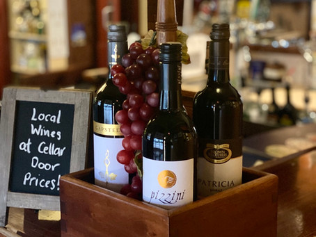 Cellar door priced local wines at The Vine