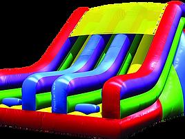 Inflatble retal, inflatable slide