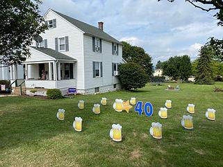 Birthday Greetings Yard Signs Adult Beer