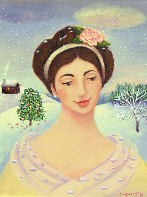 Camellia in winter