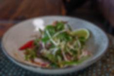 Thai Beef (Wagyu) asian salad with shredded papaya