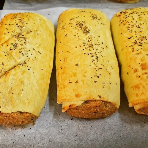 Single serve Vegan Sausage Roll