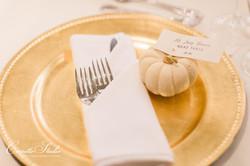 White Pumpkin Placecards