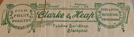 Notepaper of Heaps family run firm in blackpool