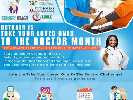 Take Your Loved One To the Doctor on 10/24/2020