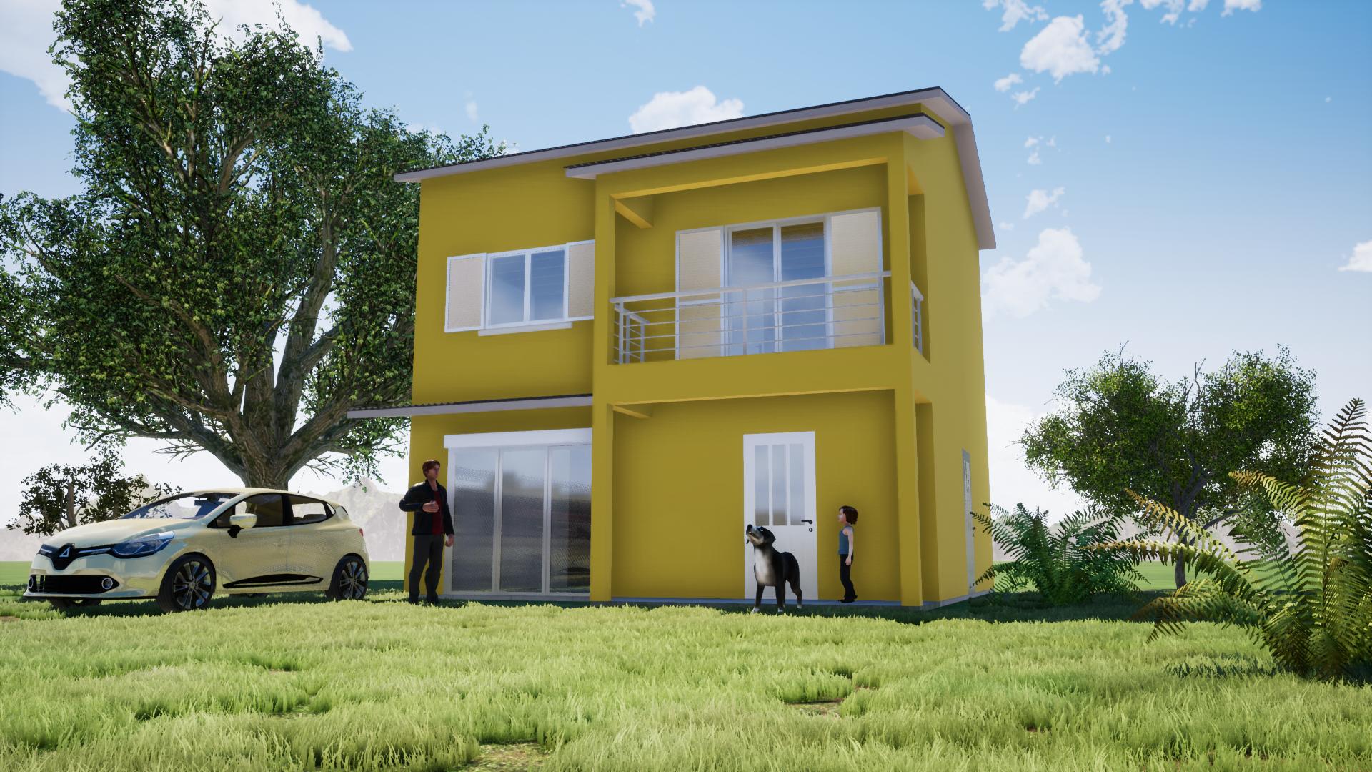 Villa à la Réunion en 3D