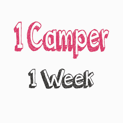Register 1 Camper (1 WEEK)