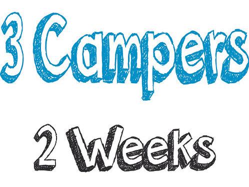 Register 3 Campers (2 WEEKS)