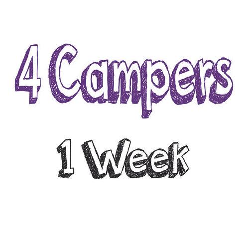 Register 4 Campers (1 WEEK)