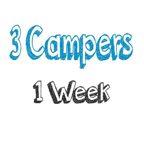 Register 3 Campers (1 WEEK)