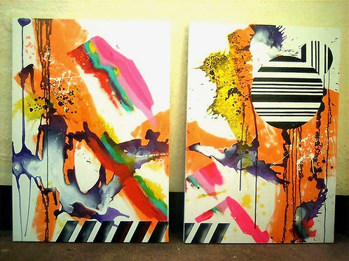 Untitled BWO Diptych
