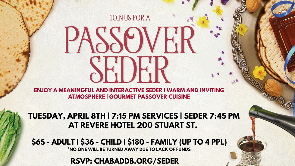 Enjoy a meaningful and interactive Seder