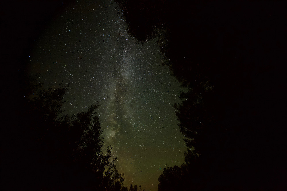 Though it's tucked neatly into the woods of La Pêche near Ladysmith, guests staying in leTerrain's yurt only need to look up to get this view of the Milky Way on a clear night. Photo courtesy Steve Durand