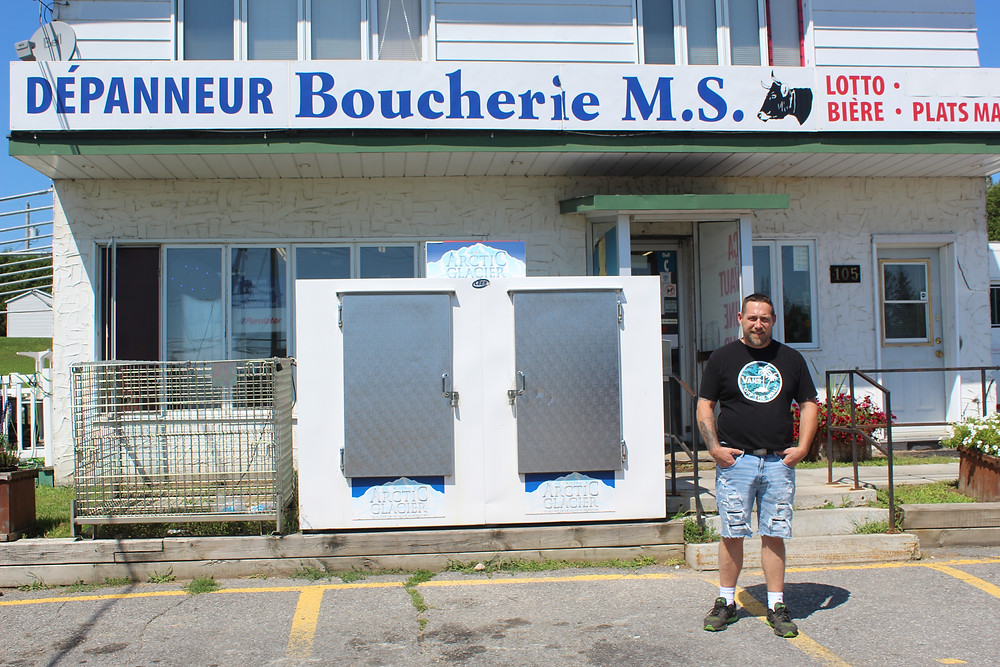 Martin Sasseville, owner of the Depanneur Boucherie M.S. in Masham, where an alleged 'hate-motivated assault' took place on Aug. 8, blames social media for casting himself and his employees as the bad guys when they were just bystanders. Stuart Benson photo