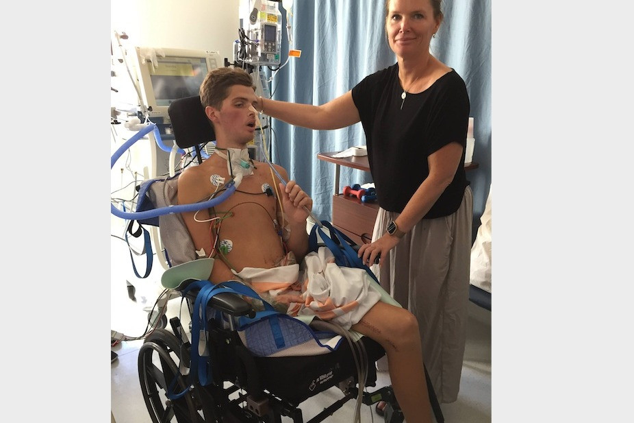 Emilio Dutra Lidington spent weeks in hospital recovering after the boat crash, with his mother, Jasmin Lidington, by his side for much of it. File photo