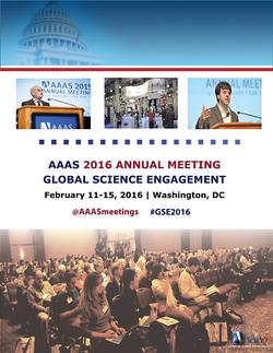 AAAS Event Agenda Cover Design