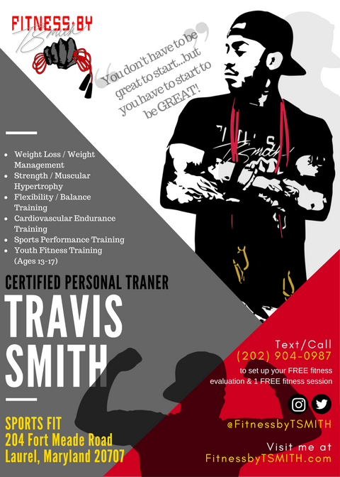 Fitness with Travis Flyer