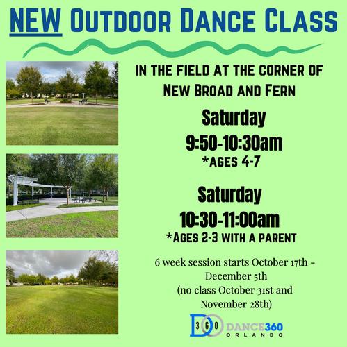 NEW Outdoor Dance Class
