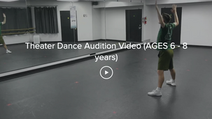 Theater Dance Audition Video