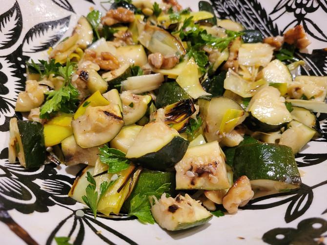 Grilled Zucchini & Leeks