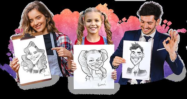 Caricature en direct, caricature live