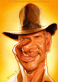 Caricature Harrison Ford