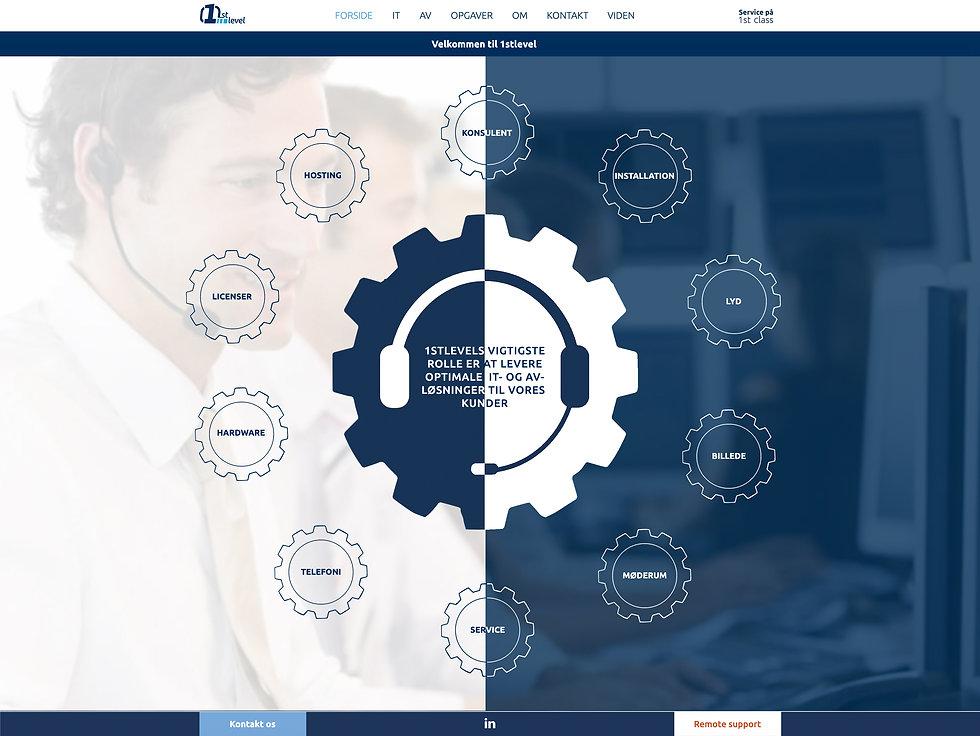 1stlevel hjemmeside Creo