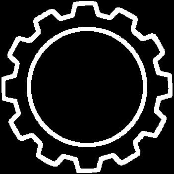 Tandhjul ikon streg Hvid.png