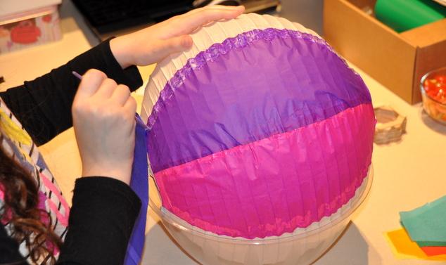 כדור פורח - תהליך הכנה ויצירה