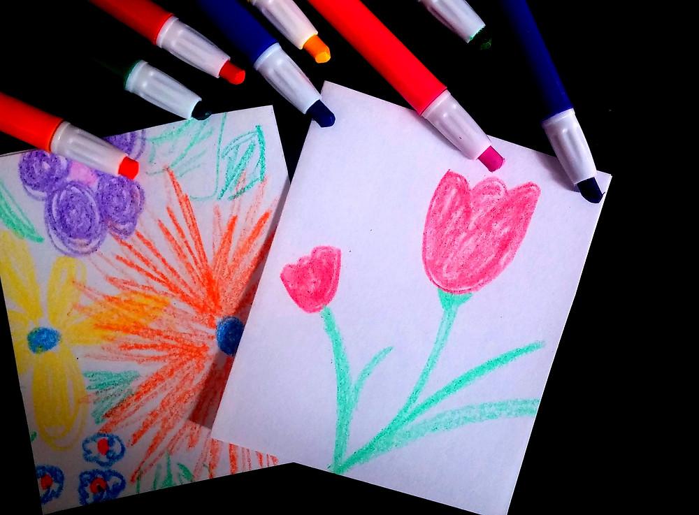 מציירים פרחים