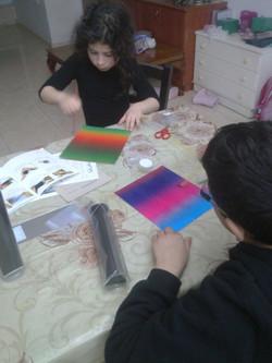 הכנת קלידוסקופ - פעילות יצירתית