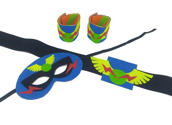 גיבורים קטנים גדולים - יצירת סט לגיבור על - חגורה, מסכה וצמידים  - 6 פעילויות