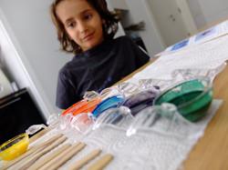 ליאו פעילות יצירה לילדים עם צבעי מים