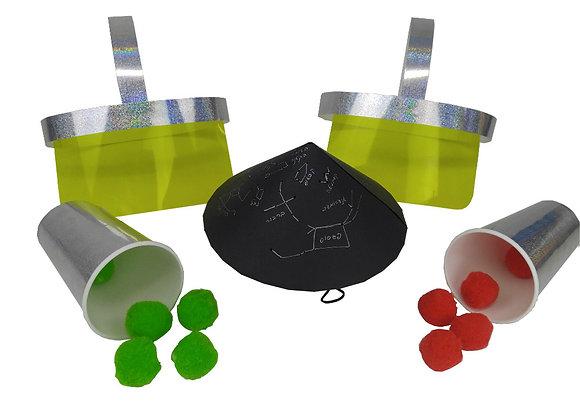 פלנטריום - יצירת פנס המאיר כוכבים, זוג מסכות וזוג תותחי חלל - 6 פעילויות בקופסא