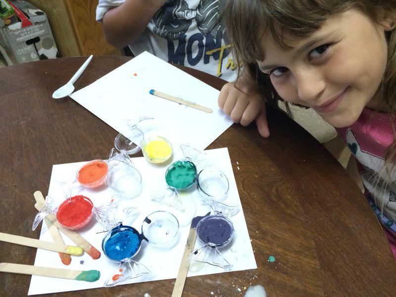 צבעי מים, הפעלה יצירתית בצבעי מים
