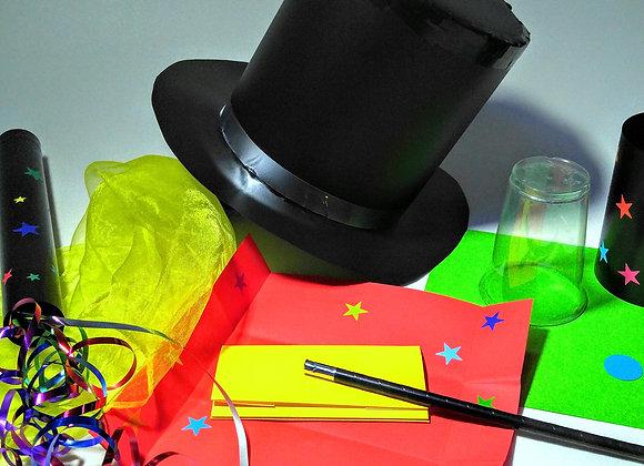 קסם - יצירת ערכה מלאה לקוסם כולל מגבעת - 7 פעילויות בקופסא