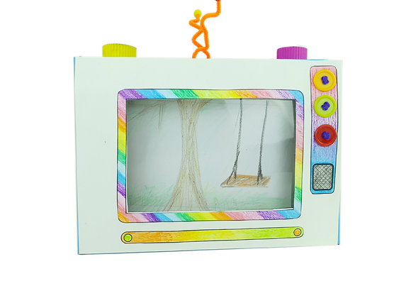 התמונה הגדולה על המסך הקטן - בניית מסך טלויזיה ויצירת סרטים - 5 פעילויות בקופסא