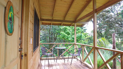 patio wooden cabin tucan