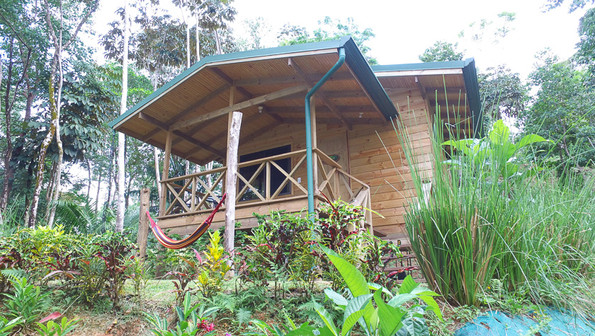 wooden cabin forest lodge costa rica