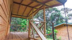 terraza cabaña tucan forest lodge