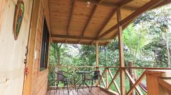 terraza cabaña Lapa forest lodge