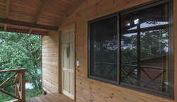 patio wooden cabin lapa