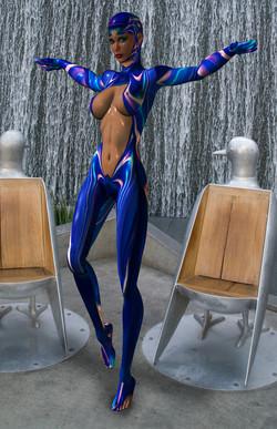 """"""" Blue Body Suit  """""""
