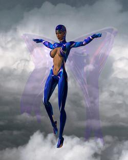 """ Blue Angel in Clouds """