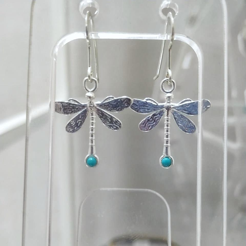 серьги libellule azzurre