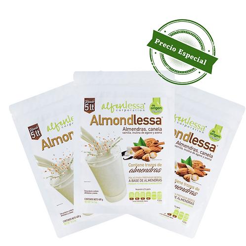 Almondlessa Bebida de almendras molidas 3 pack
