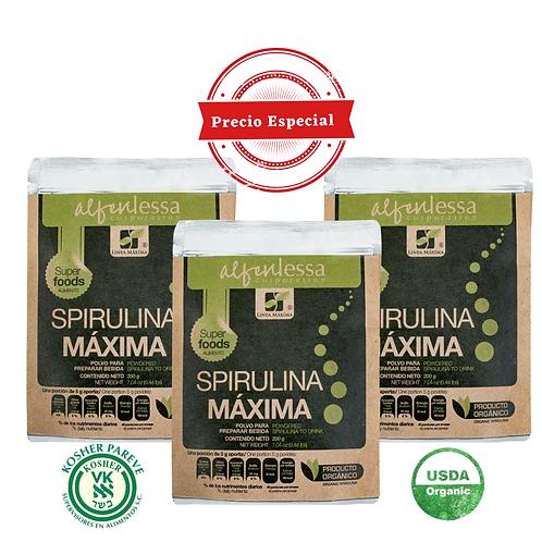 Spirulina Máxima Orgánica en Polvo 3 pack
